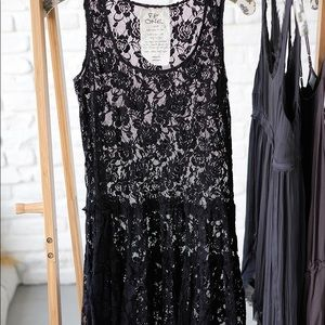 Free people Emily black slip sizeXS good condition